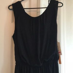 NWT JUMPSUIT!!!  Black with Drape Back Detail